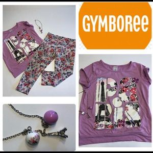 Gymboree girls 7/8 Paris- fashionable outfit